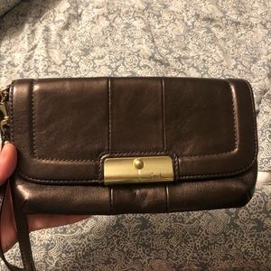 COACH Purple/brown with shimmer accents clutch